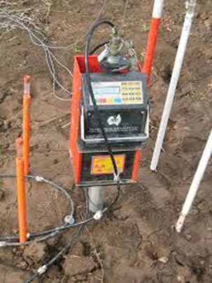 Figure 2. Troxler or CPN 503 DR neutron moisture probe as used by Omnia. These are the gold standard in measuring soil moisture and have been around since the 1950s.